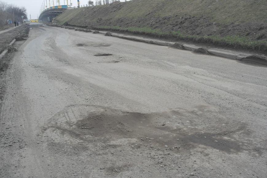 Берегите авто: водители шокированы «убитыми» дорогами под «Димитровским» мостом (ФОТО, ВИДЕО), фото-4