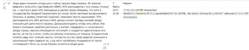 Расследование: кто пишет пророссийские комментарии на 061 и других сайтах сети CitySites, фото-4