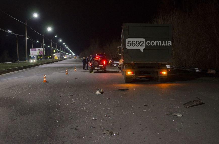 """ДТП на мосту в Каменском: """"Опель"""" столкнулся с фурой, фото-5"""