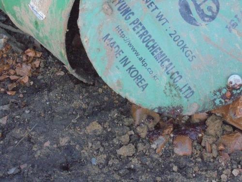Бочки с опасными химикатами кто-то выбросил в Черниговской области, фото-1