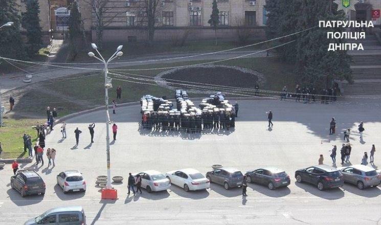В Днепре патрульные выстроились в огромный трезубец (ФОТО), фото-2