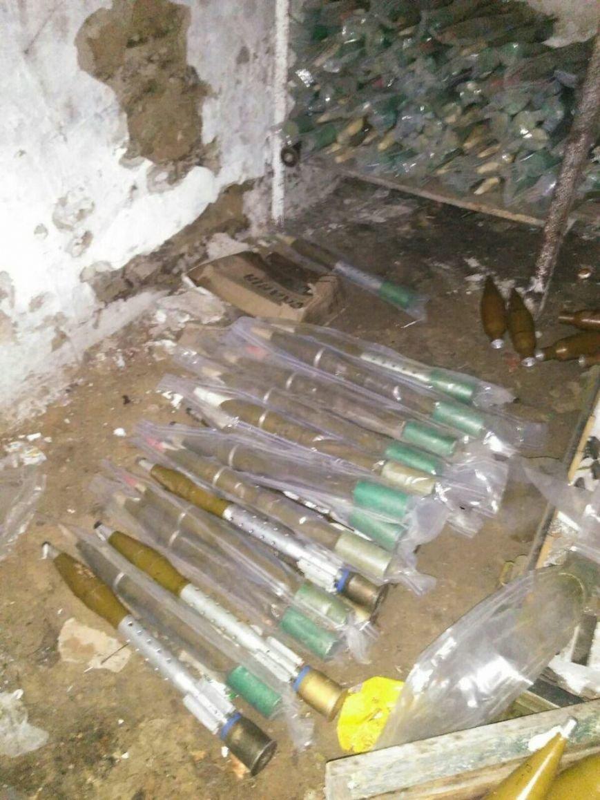 СБУ обнаружила тайник с оружием российского производства в районе проведения АТО, фото-3