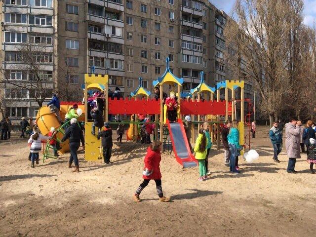 На Левобережье Каменского установили детскую игровую площадку, фото-3