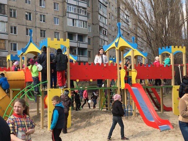 На Левобережье Каменского установили детскую игровую площадку, фото-1