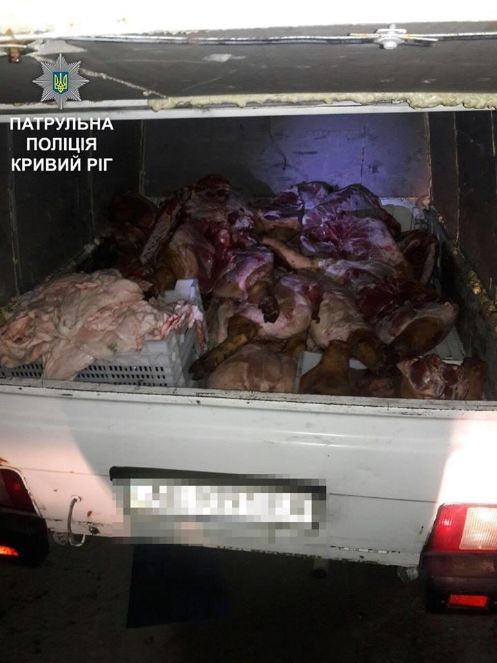 На Днепропетровщине пытались провезти нелегальный груз свинины, фото-1