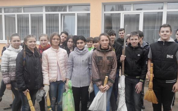 Школьники Бахмута присоединились к городской эко-акции, фото-5