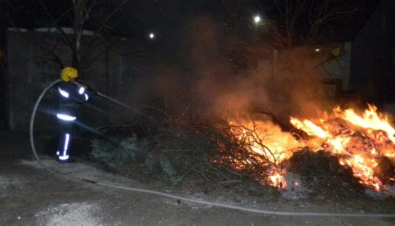 На Херсонщині палає сухий очерет та сміття (фото), фото-1
