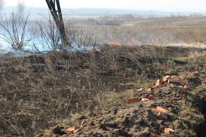 В Каменском горит территория хвостохранилища, фото-10