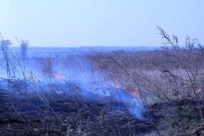 В Каменском горит территория хвостохранилища, фото-6