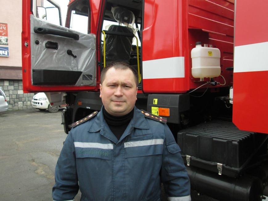 У Новограді-Волинському рятувальники презентували новий пожежний автомобіль (ФОТО, ВІДЕО), фото-1