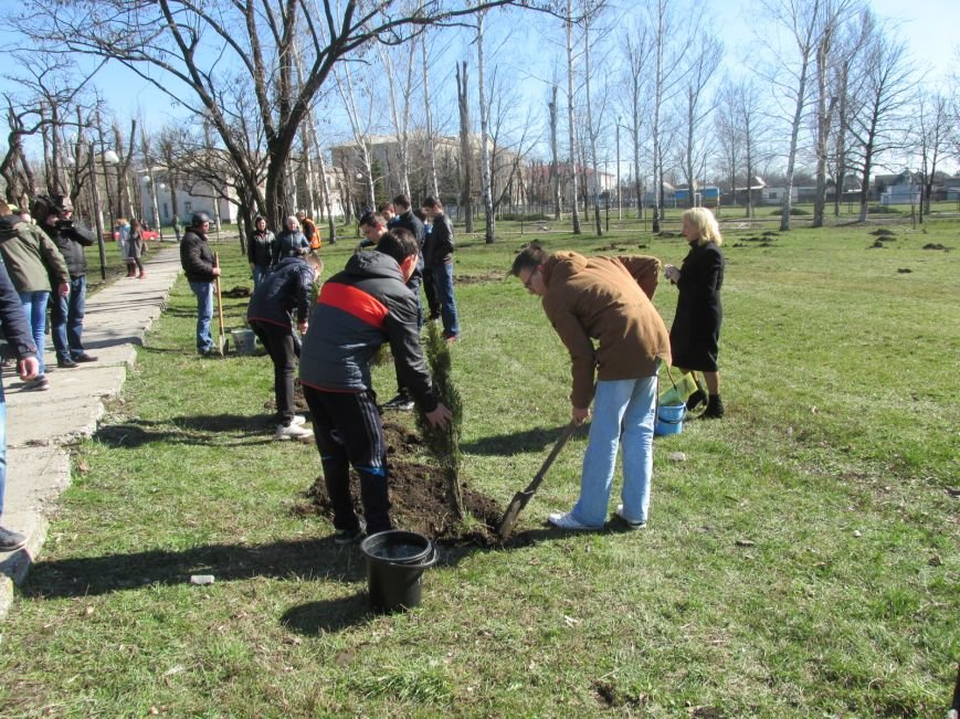 В сквере Покровска более 100 человек приняли участие в «зеленой» акции, фото-4