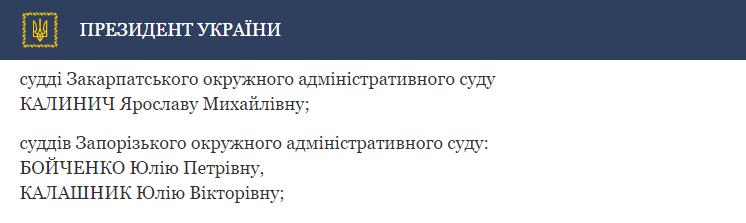 Указ Президента № 95-2017