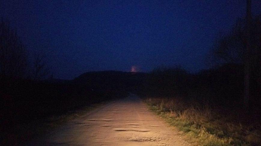 Місцеві мешканці повідомляють у соцмережах про нічну пожежу у лісі на Ужгородщині: фото, фото-1