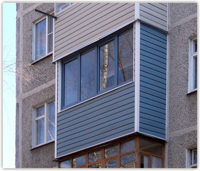 обшивка балкона в Харькове