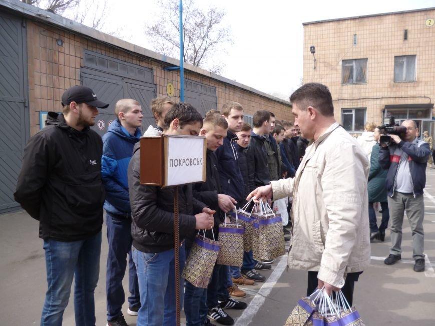 Первые весенние призывники Покровска отправились на защиту Родины, фото-14