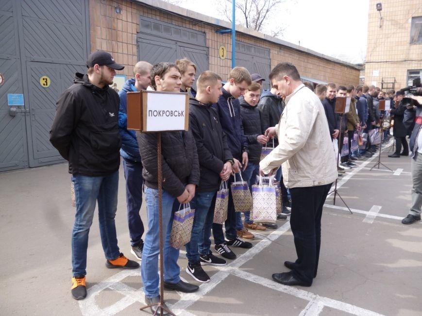 Первые весенние призывники Покровска отправились на защиту Родины, фото-15