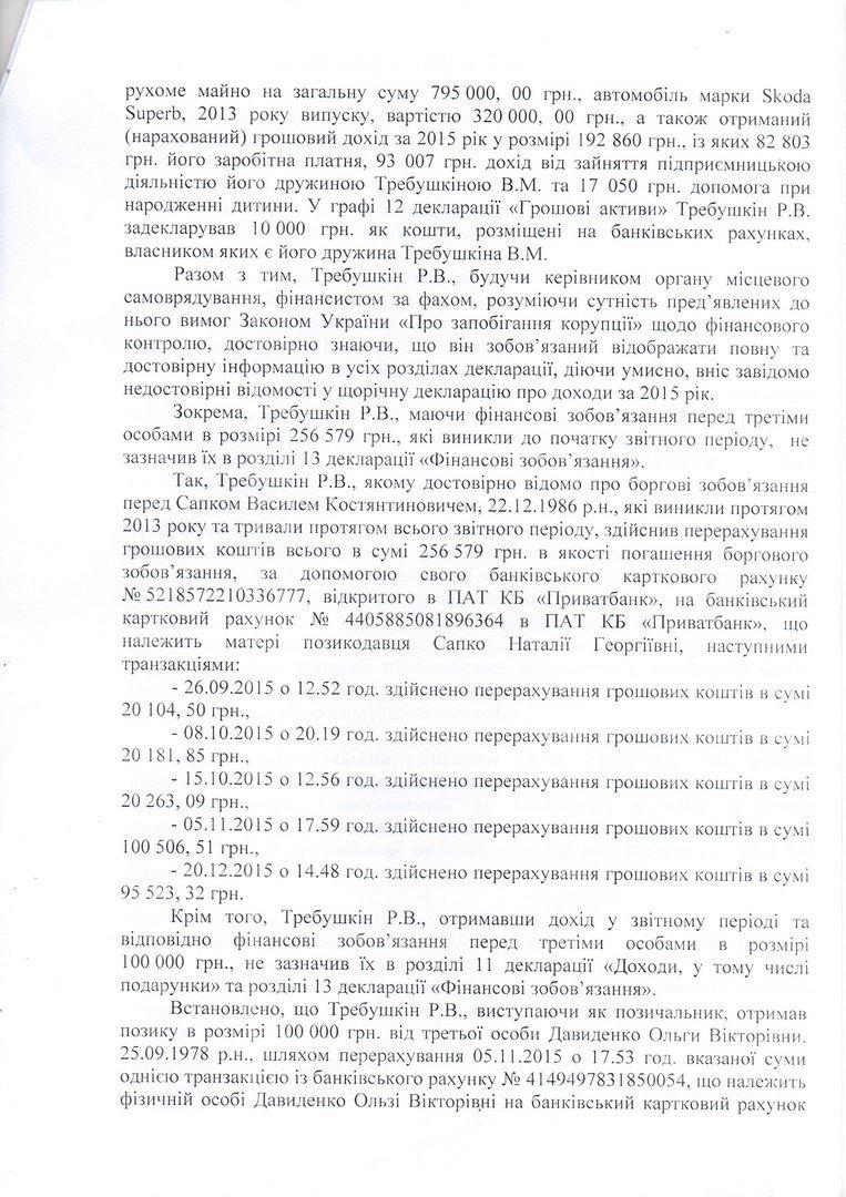 Руслан Требушкин в соцсетях обнародовал текст врученного ему сообщения о подозрении, фото-4
