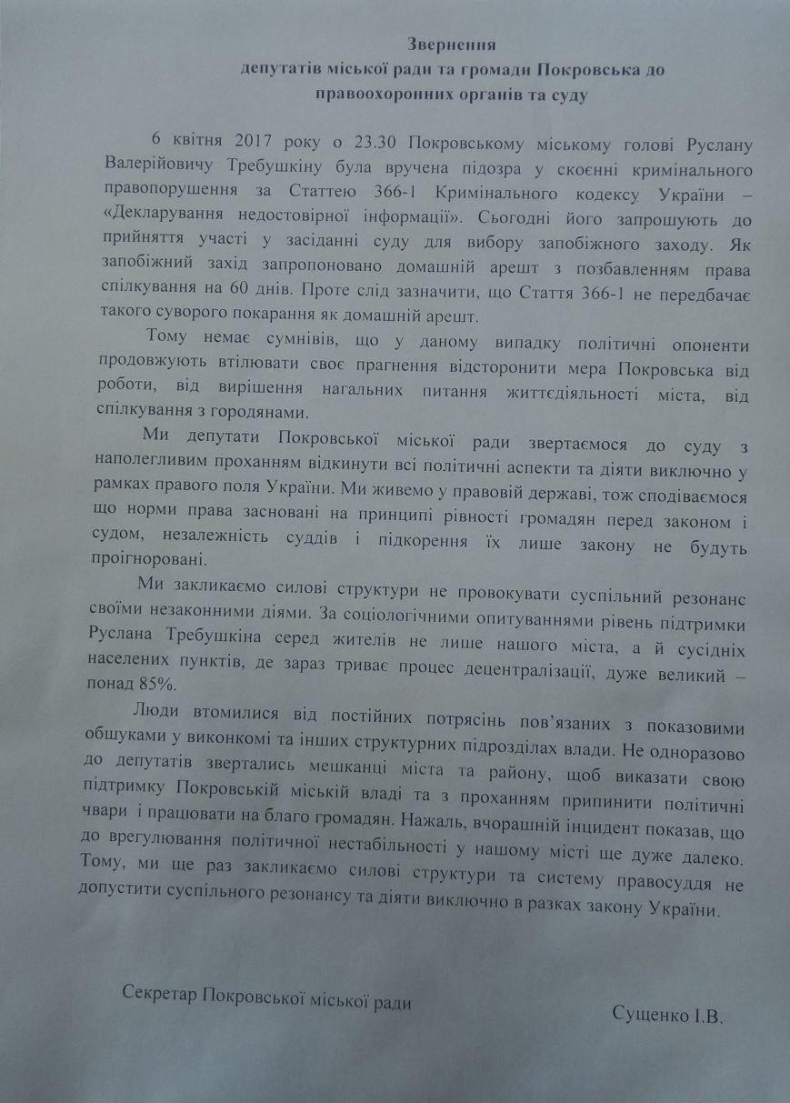 Депутатский корпус Покровска выступил в защиту мэра, фото-6
