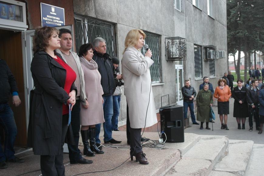"""""""Требушкин - мэр от Бога"""": под таким лозунгом прошел митинг в Покровске, фото-13"""