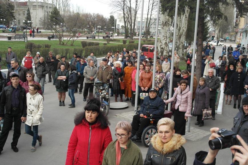 """""""Требушкин - мэр от Бога"""": под таким лозунгом прошел митинг в Покровске, фото-9"""