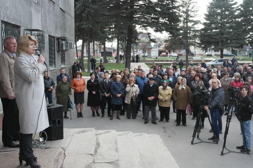 """""""Требушкин - мэр от Бога"""": под таким лозунгом прошел митинг в Покровске, фото-16"""