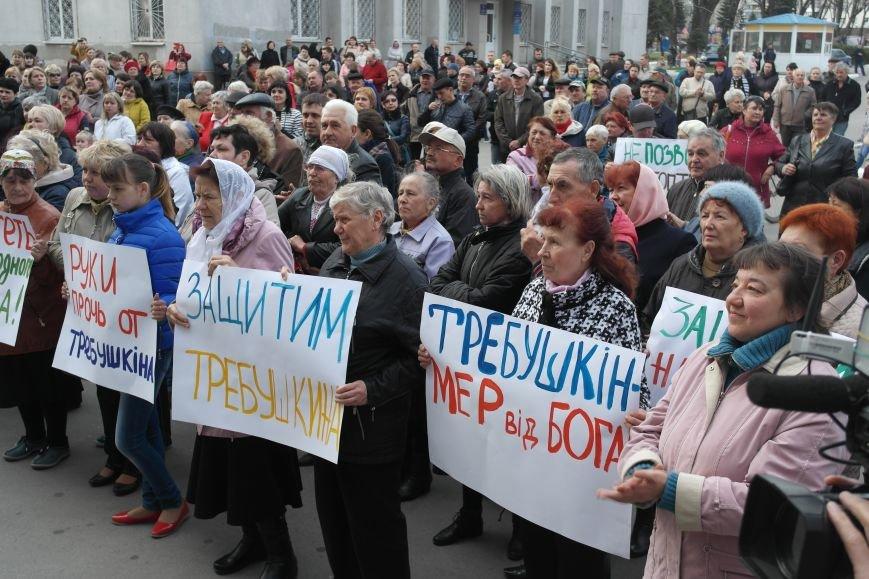 """""""Требушкин - мэр от Бога"""": под таким лозунгом прошел митинг в Покровске, фото-12"""