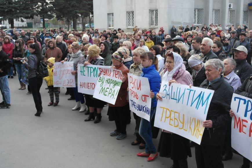 """""""Требушкин - мэр от Бога"""": под таким лозунгом прошел митинг в Покровске, фото-11"""