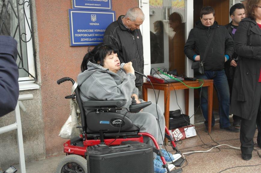 """""""Требушкин - мэр от Бога"""": под таким лозунгом прошел митинг в Покровске, фото-17"""