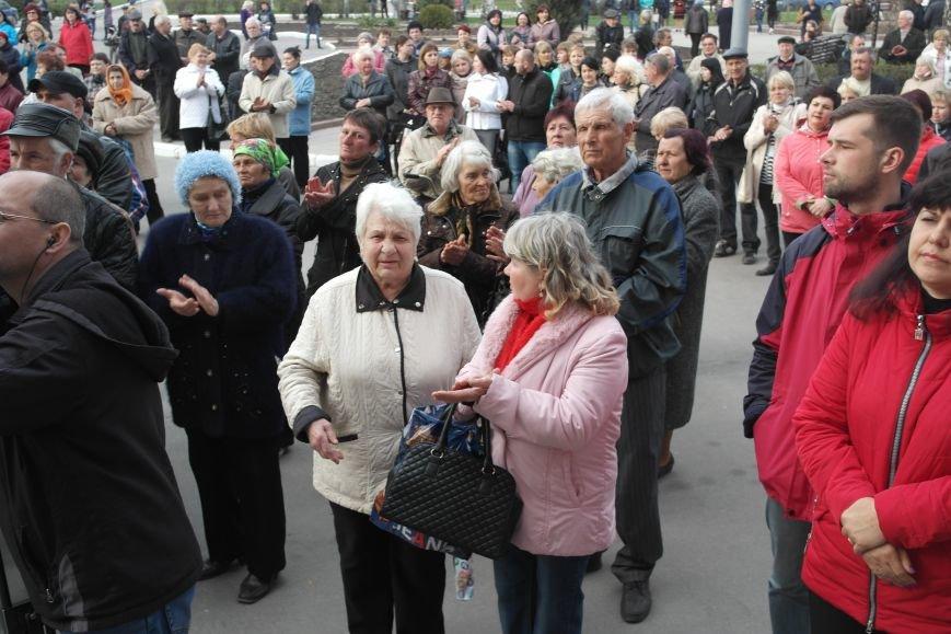 """""""Требушкин - мэр от Бога"""": под таким лозунгом прошел митинг в Покровске, фото-20"""