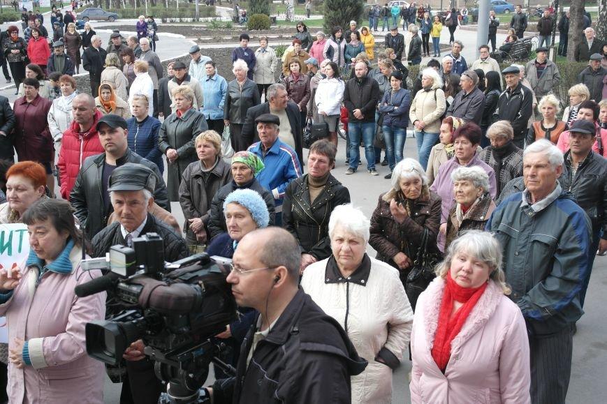 """""""Требушкин - мэр от Бога"""": под таким лозунгом прошел митинг в Покровске, фото-14"""