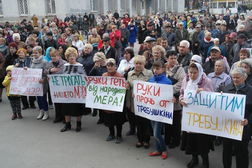 """""""Требушкин - мэр от Бога"""": под таким лозунгом прошел митинг в Покровске, фото-6"""