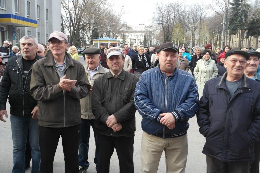 """""""Требушкин - мэр от Бога"""": под таким лозунгом прошел митинг в Покровске, фото-24"""