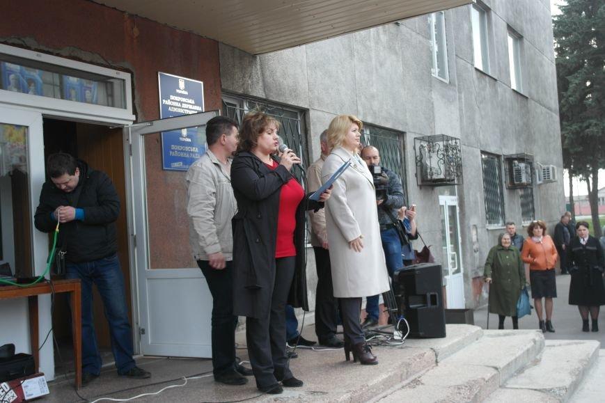 """""""Требушкин - мэр от Бога"""": под таким лозунгом прошел митинг в Покровске, фото-10"""