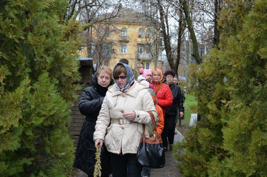 Мариупольцы празднуют Вербное воскресенье (ФОТО+ВИДЕО), фото-23