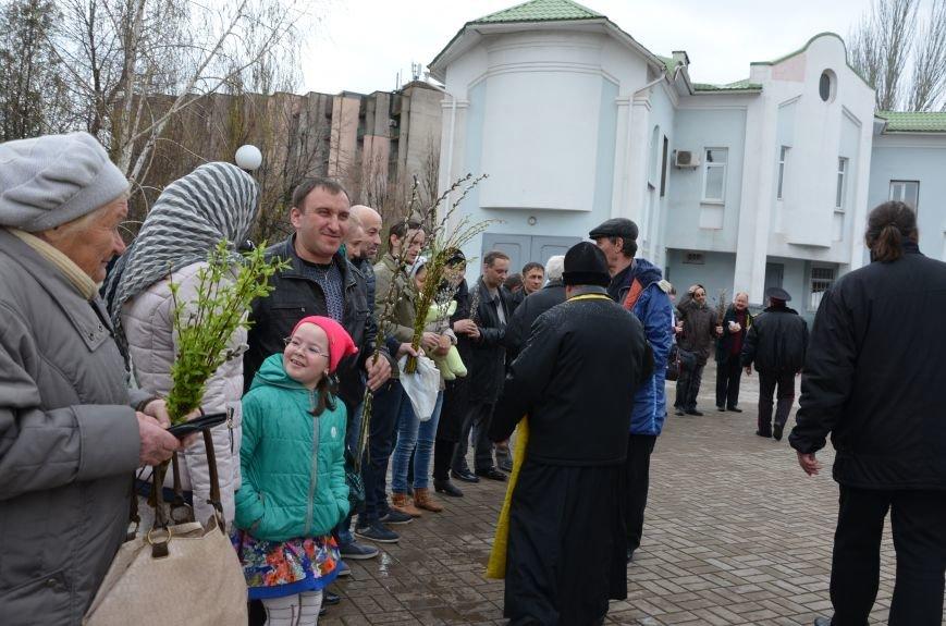 Мариупольцы празднуют Вербное воскресенье (ФОТО+ВИДЕО), фото-17