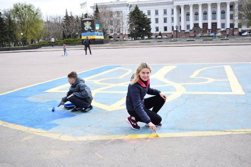 На центральной площади Краматорска обновили герб, фото-1