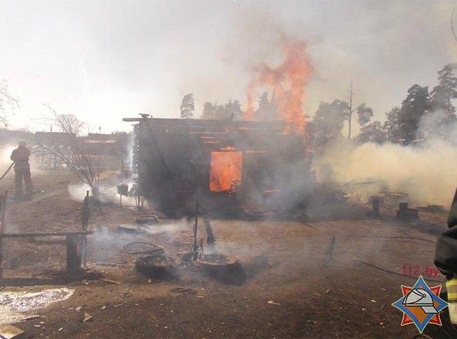 В Полоцком районе пенсионерка вместе с сухой травой сожгла сарай. ФОТО/ВИДЕО, фото-1