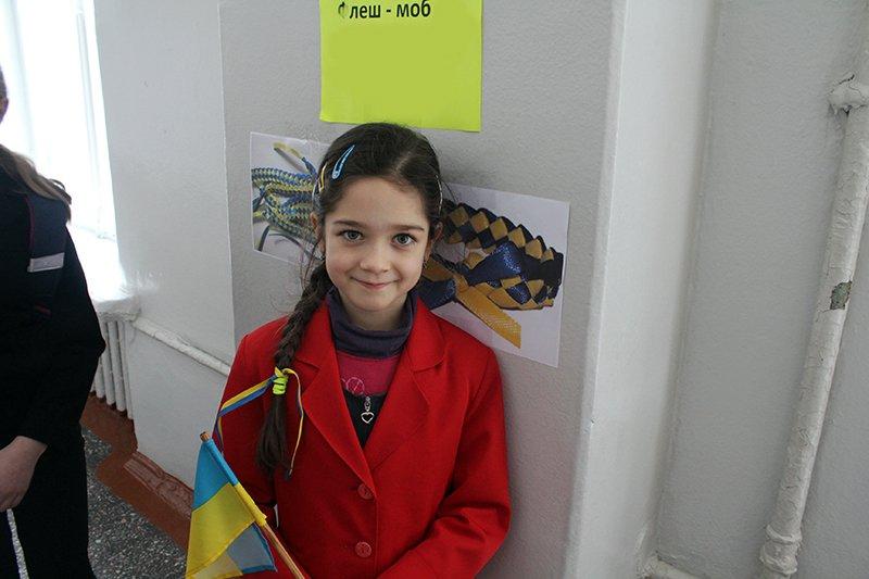 Школьники Бахмута провели флеш-моб «С Украиной в сердце» (ФОТО), фото-5