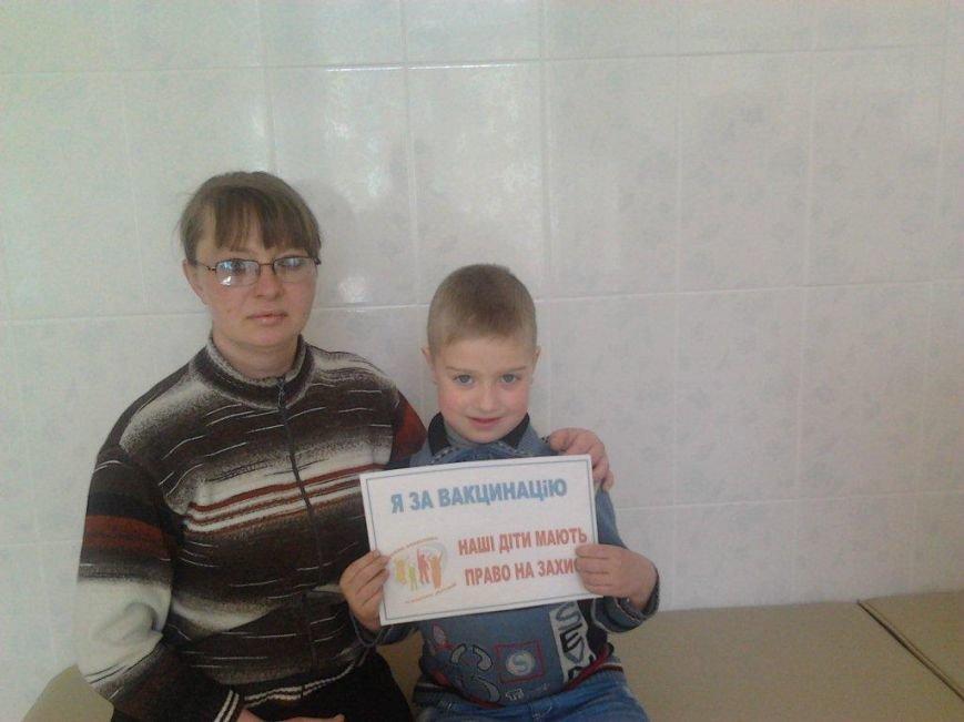 В Бахмуте дети и взрослые приняли участие в флешмобе «Я – за вакцинацию», фото-6