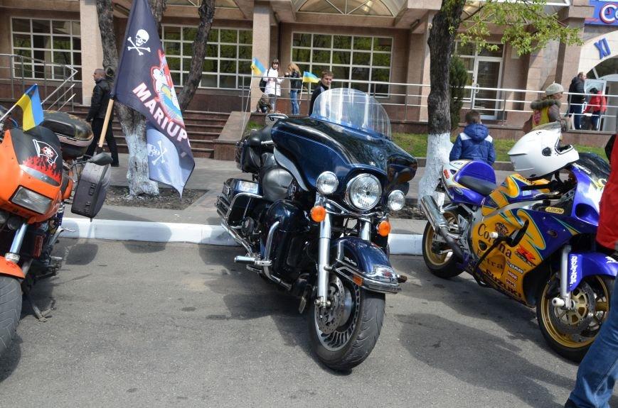Сотни байкеров проехались по улицам Мариуполя (ФОТО+ВИДЕО), фото-14