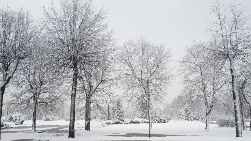 Полоцк и Новополоцк на Пасху замело снегом, фото-5