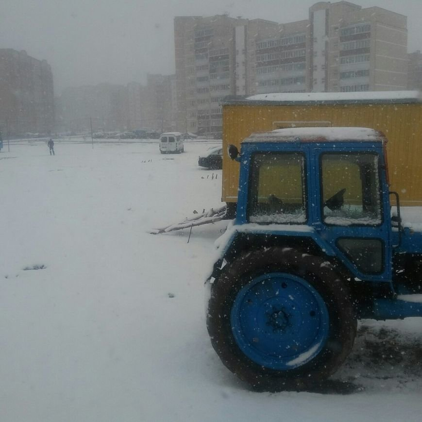 Полоцк и Новополоцк на Пасху замело снегом, фото-6