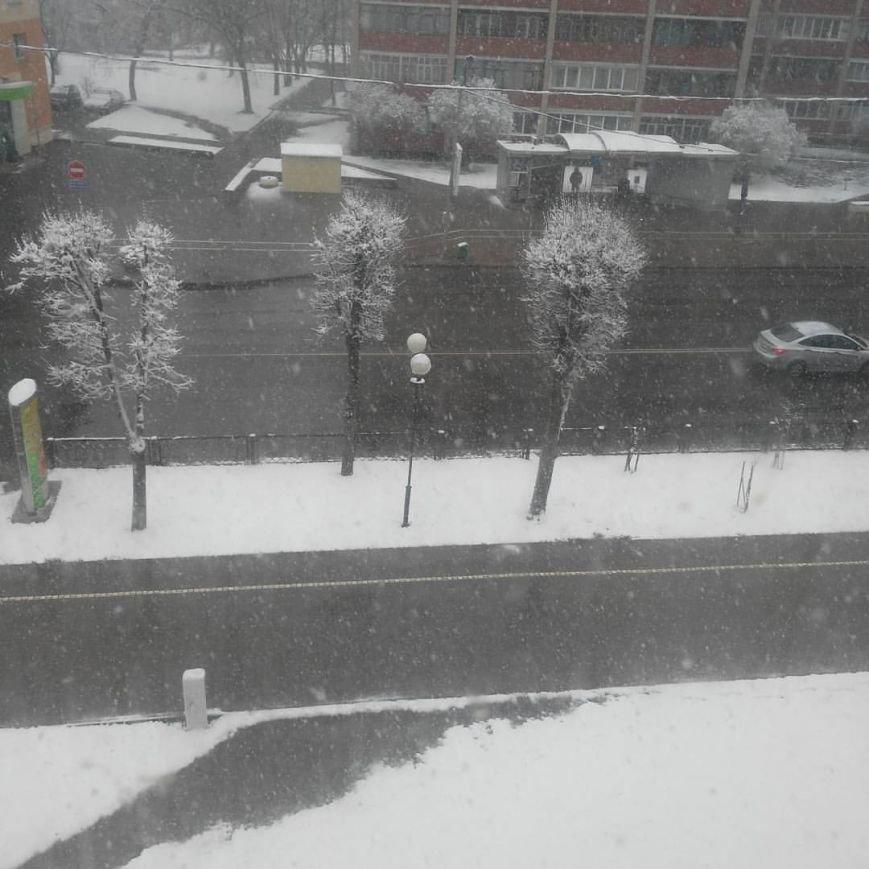 Полоцк и Новополоцк на Пасху замело снегом, фото-3