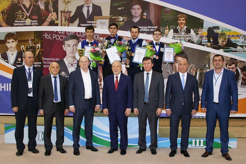 Победитель и призеры чемпионата мира 2017г