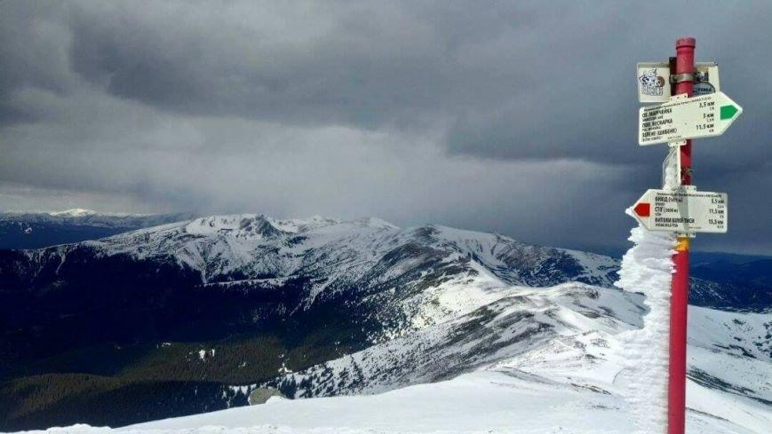Зима навесні - гора Піп Іван, що на Закарпатті, під щільним покровом снігу: фото, фото-2