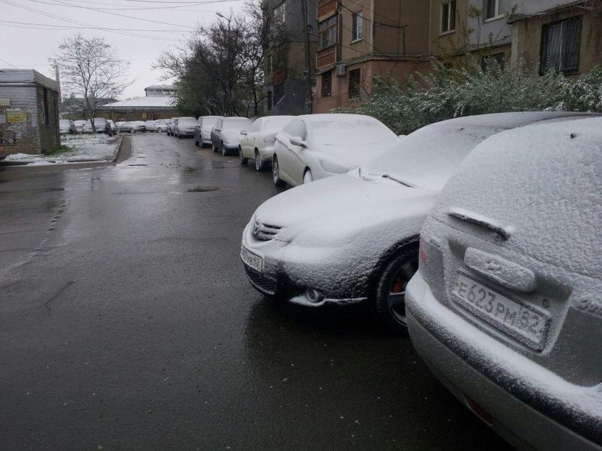 В Крым неожиданно вернулась зима: в Симферополе выпал снег (ФОТО), фото-10