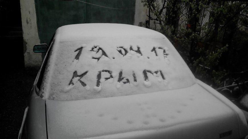 В Крым неожиданно вернулась зима: в Симферополе выпал снег (ФОТО), фото-2