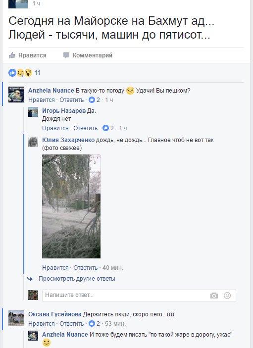 На КПВВ «Майорск», несмотря на погоду, большие очереди, фото-1