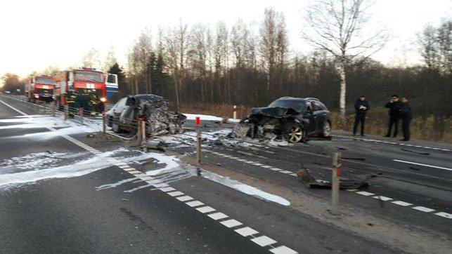 В Дубровенском районе лоб в лоб столкнулись Mazda и Infiniti: погибли два человека, фото-1