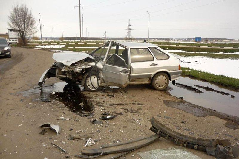 Пьяный водитель ВАЗа спровоцировал ДТП под Белгородом, фото-1
